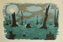 Cypress Graveyard, screenprint