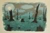 Cypress Graveyard, screenprint