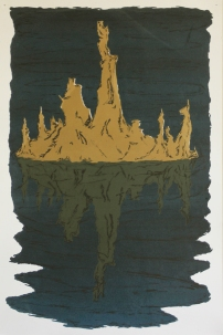 Cypress Stump in Water, screenprint