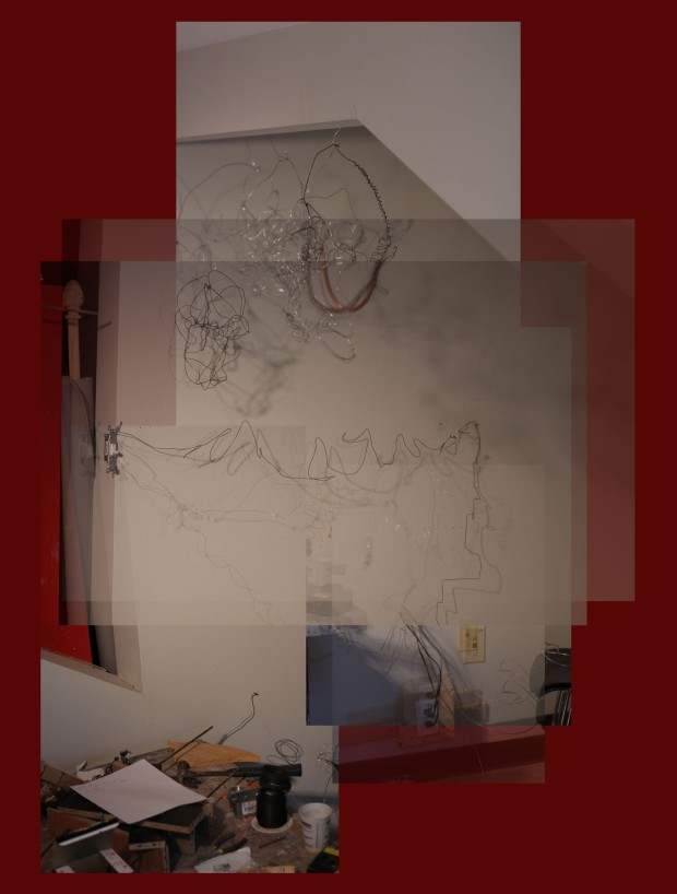In Charge Red Wall Drawing