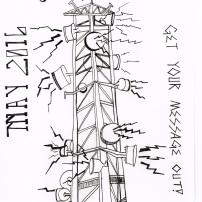 Radio Tower Print, litho