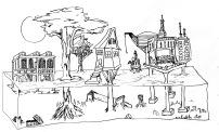 Residue Postcard Drawing