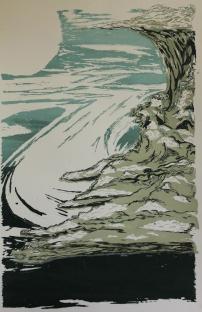 River Storm, screenprint