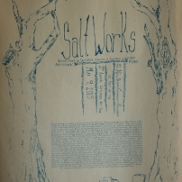 Salt Works Poster, screenprint